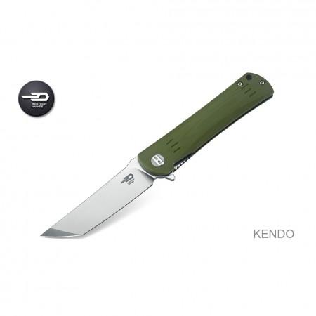 Bestech Knives, Kendo G10 Linerlock Green