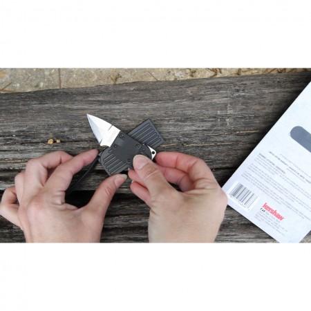 Kershaw Al Mar, AM-6 Fixed Blade Neck Knife Black GFN