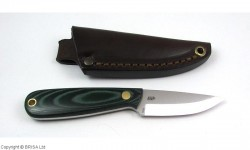 EnZo, Necker 70, Green Micarta, Scandi