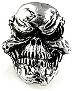 Schmuckatelli Co, Grins Skull Lanyard Bead (Pewter)