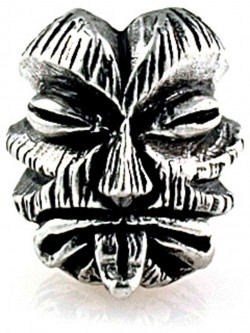 Schmuckatelli Co,, Kiko Tiki Bead Pewter