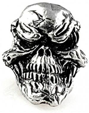 Beads, Grins Skull Lanyard Bead (Pewter)