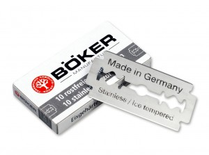 Shaving Böker 10 Double Edge Razor Blades