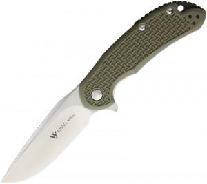 Steel Will Knives, Cutjack Flipper Knife OD Green FRN, C22
