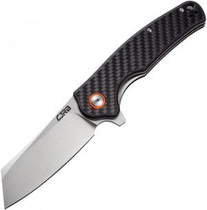 CJRB Cutlery, Crag, Liner Lock Knife Carbon Fiber Flat Handle