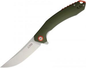 CJRB Cutlery,  Gobi Liner Lock, Knife Green Curved Handle