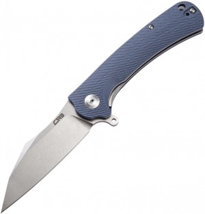 CJRB Cutlery,  Talla Liner Lock Knife Gray Curved Handle