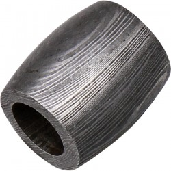 Beads, Damascus Steel Bead Straight Barrel