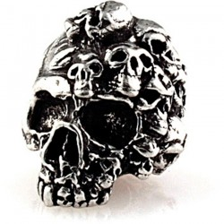 Beads, Mind Skull Bead Pewter