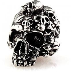Beads, Mind Skull Bead Pewter